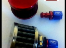 Chrome AN 8 Fuel Tank Breather Air Filter Kit