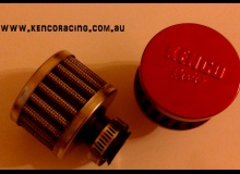Red 9mm Mini Air Filter Breather Filter