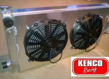 Kenco Universal Double Pass Aluminium Radiator and Fans